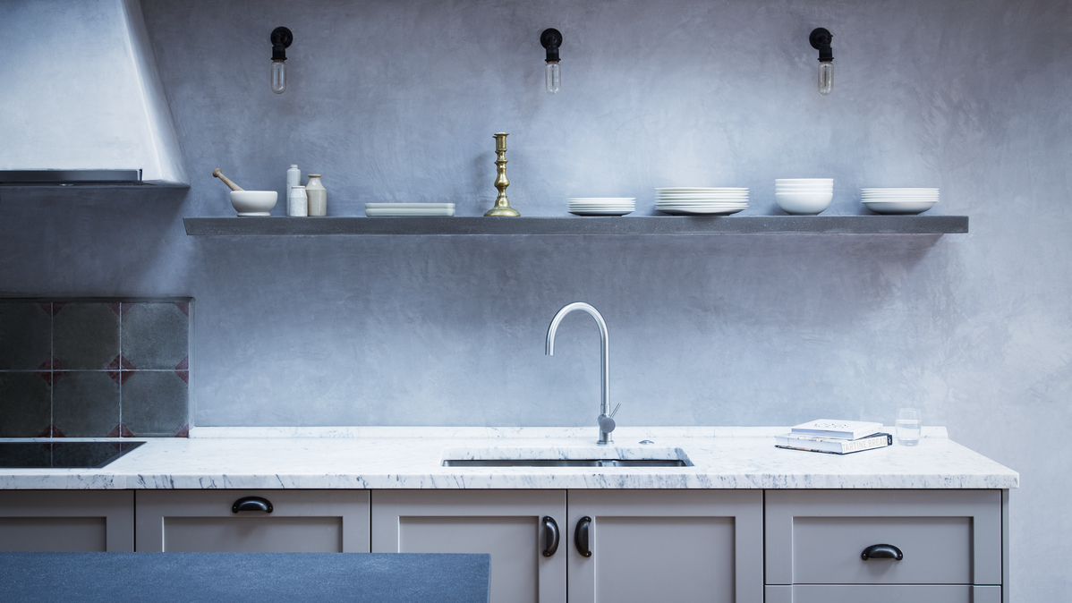 Подсветка стены на кухне