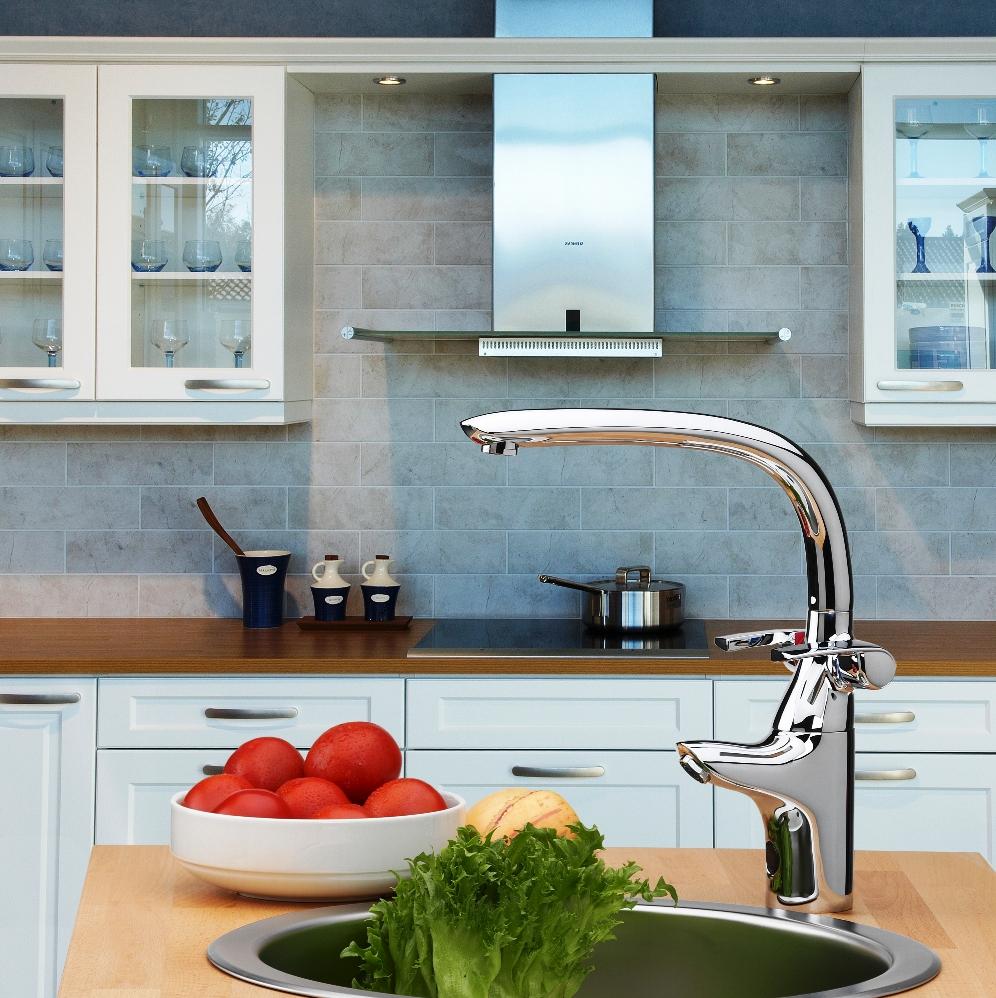 Термостатический смеситель на кухне