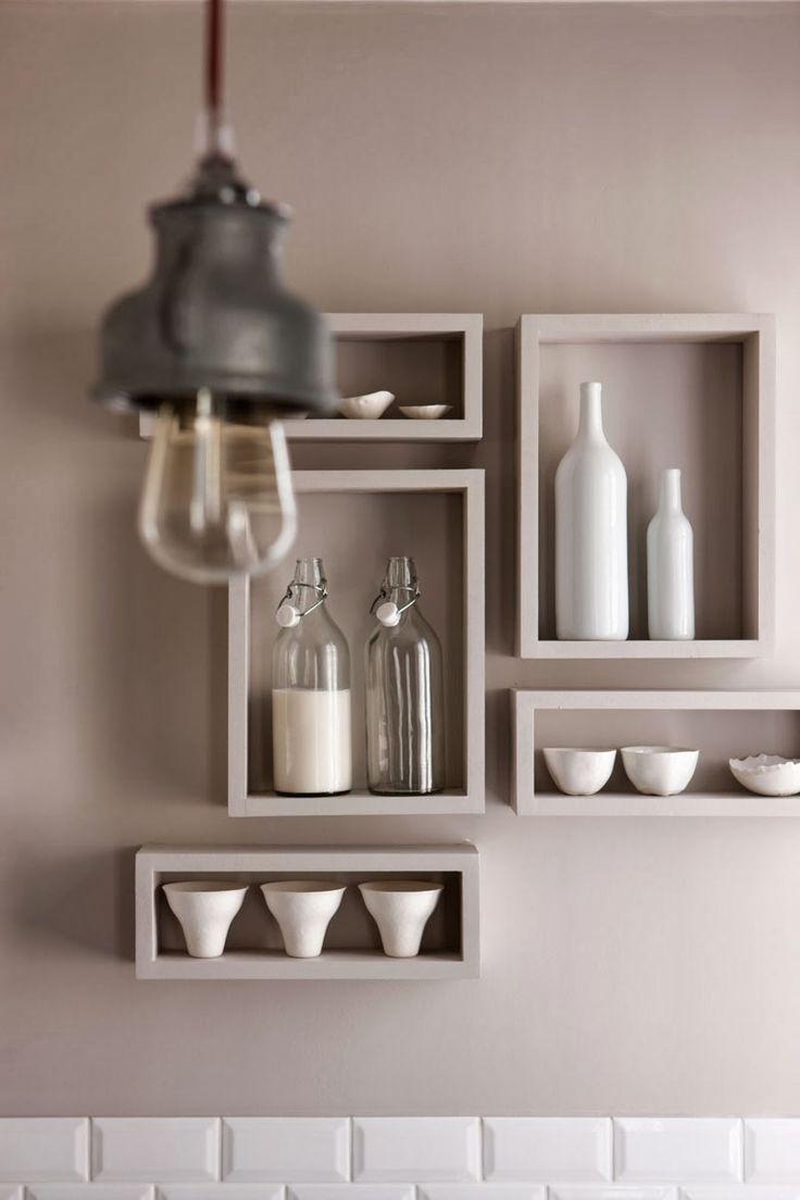 Декоративные полки на кухне