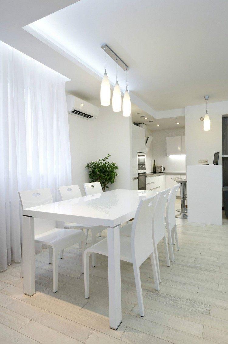 Потолок со светодиодной подсветкой на кухне