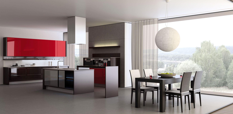 Люстра-шар в интерьере кухни