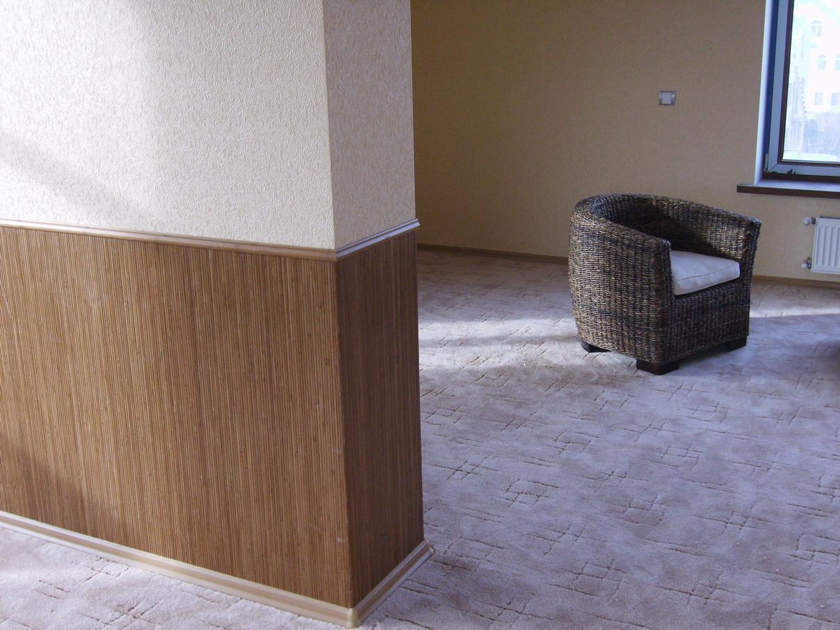 Бамбуковые обои в интерьере квартиры