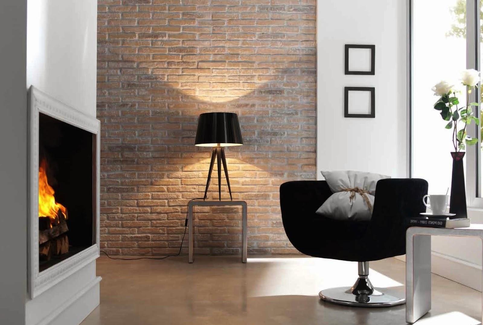 Подсветка стены лампой