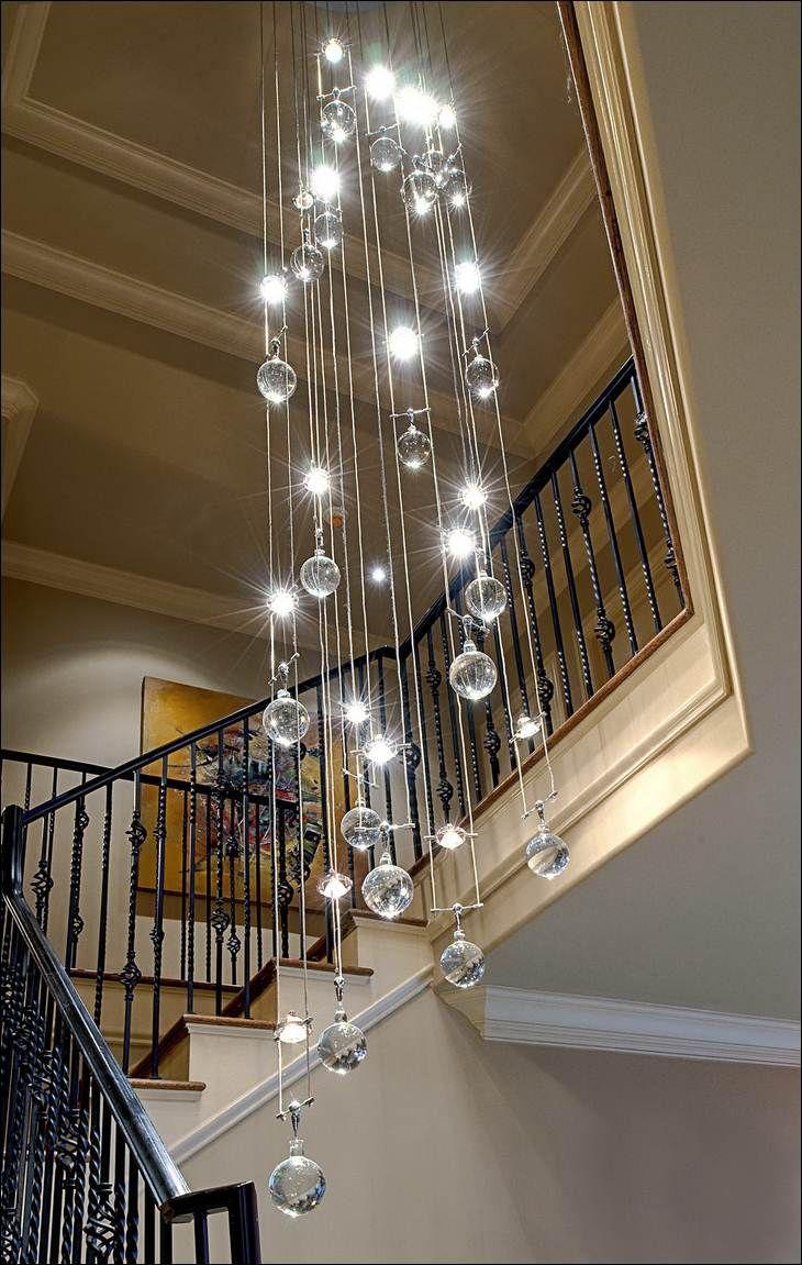 Люстра-шар для лестницы