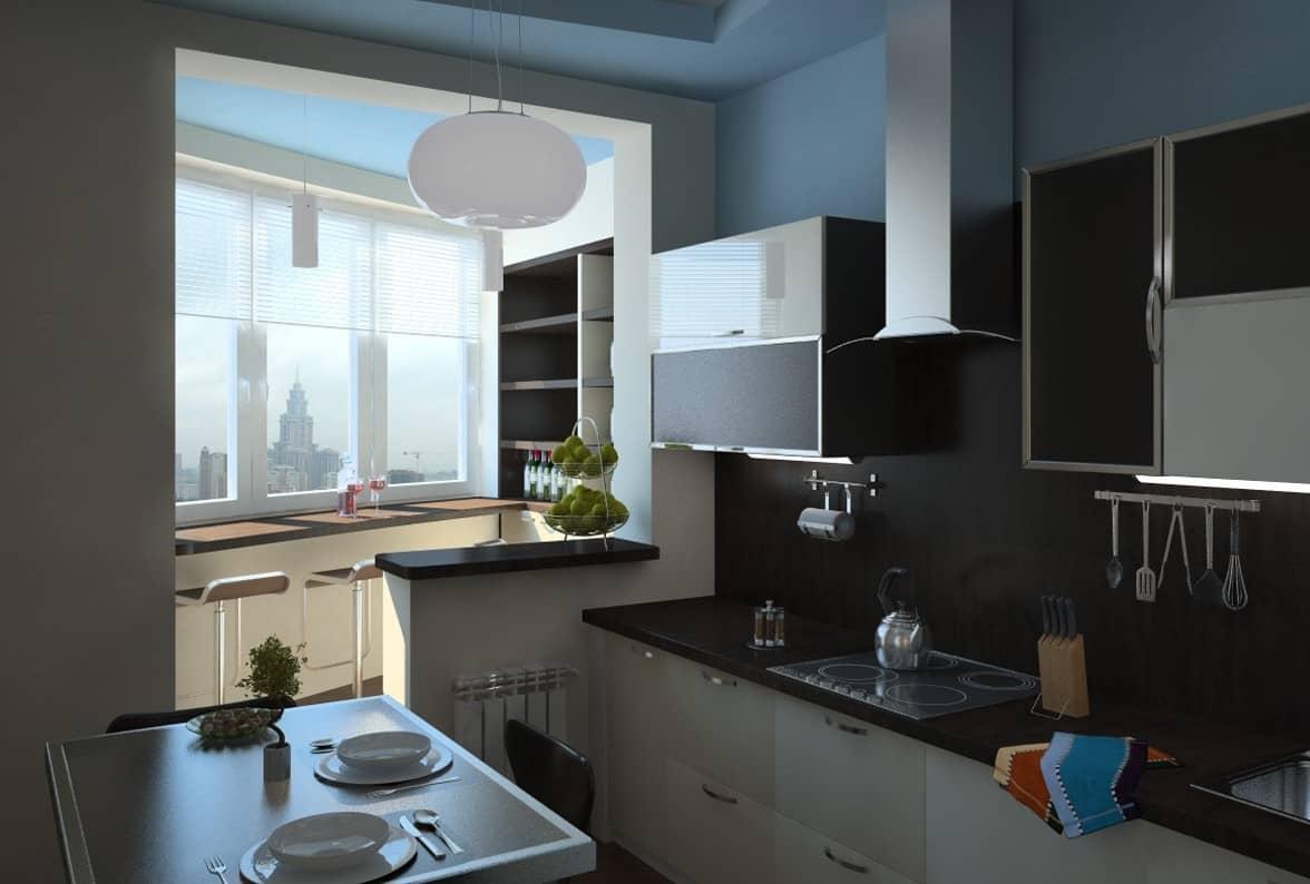 Хрущевский холодильник на кухонной лоджии