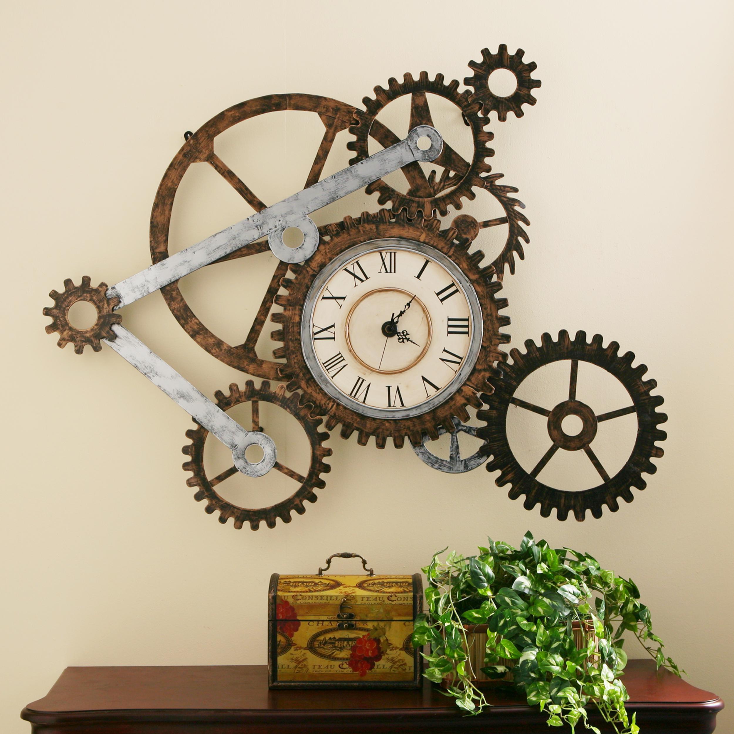 Декор часов в стиле лофт