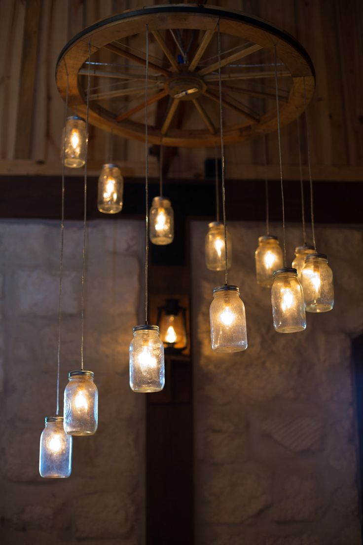 Декор люстры в стиле лофт