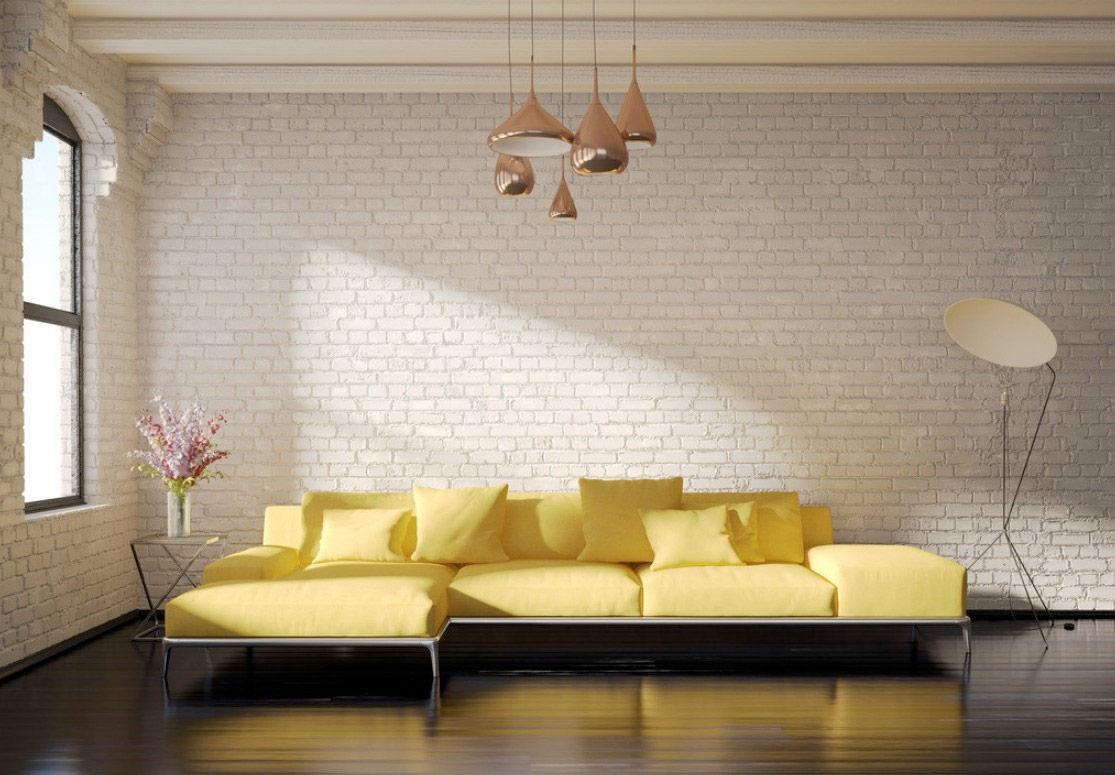 Тканевый диван в стиле лофт