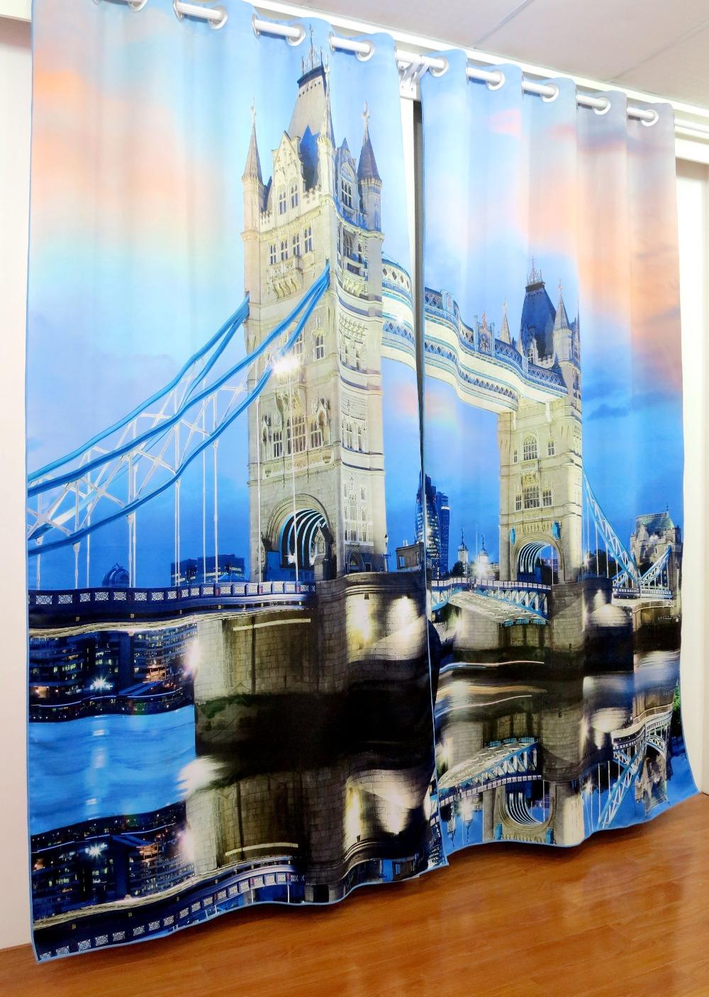Шторы 3D с изображением Лондона