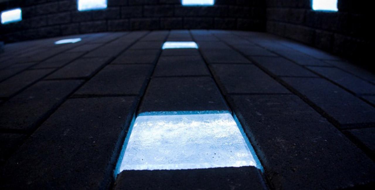 Светящаяся плитка с люминафором