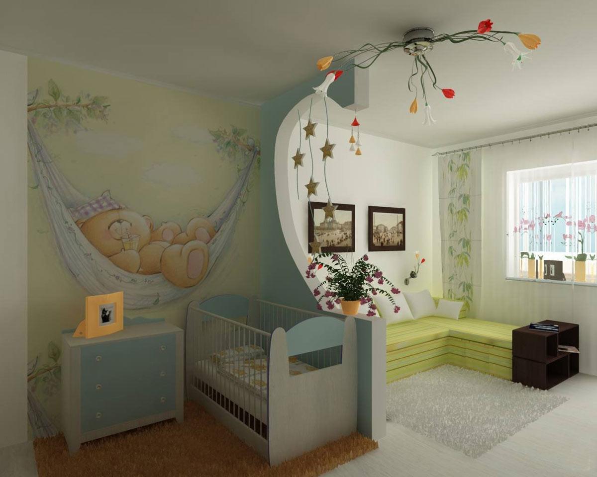 Зонирование детской для малыша