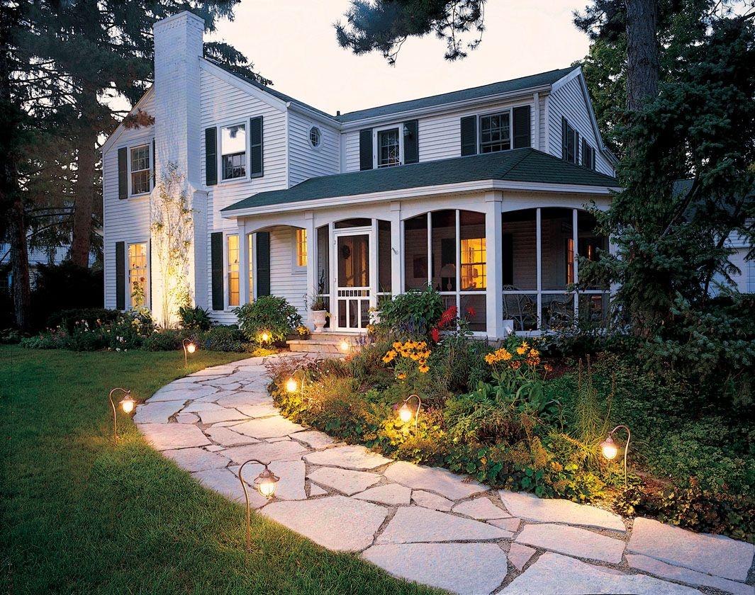 Маленькие фонари для подсветки сада