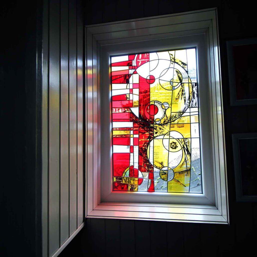 Витражная пленка декоративная на маленькое окно