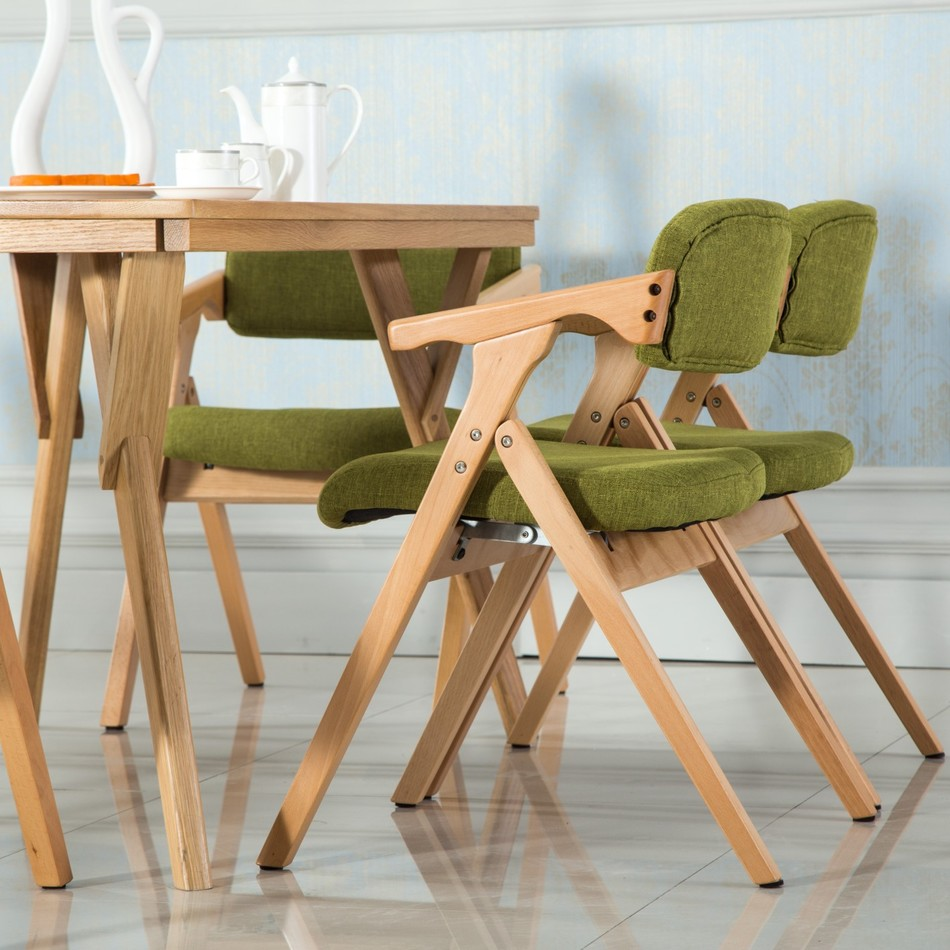 Складные стулья из массива
