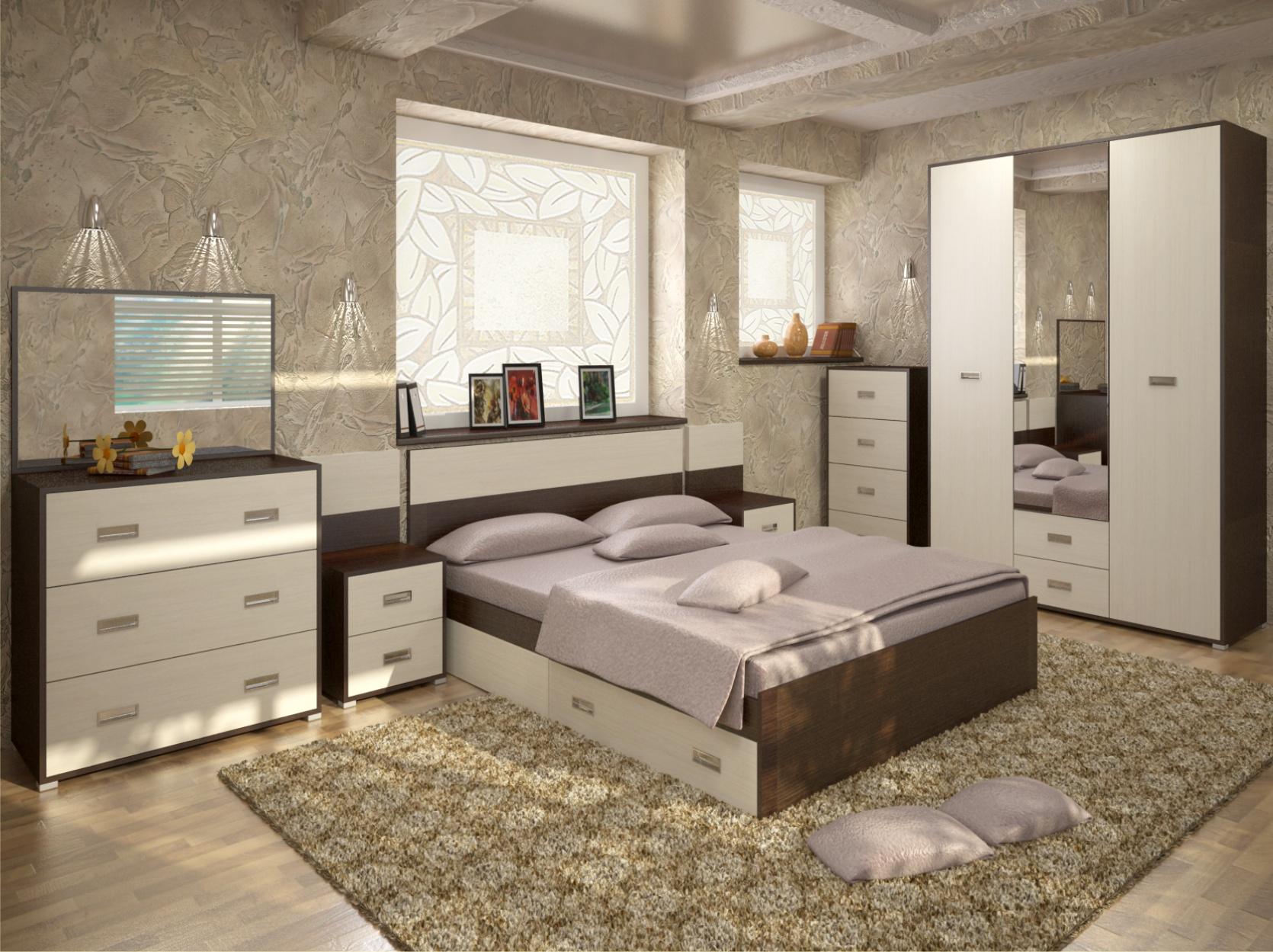 Спальный гарнитур из МДФ
