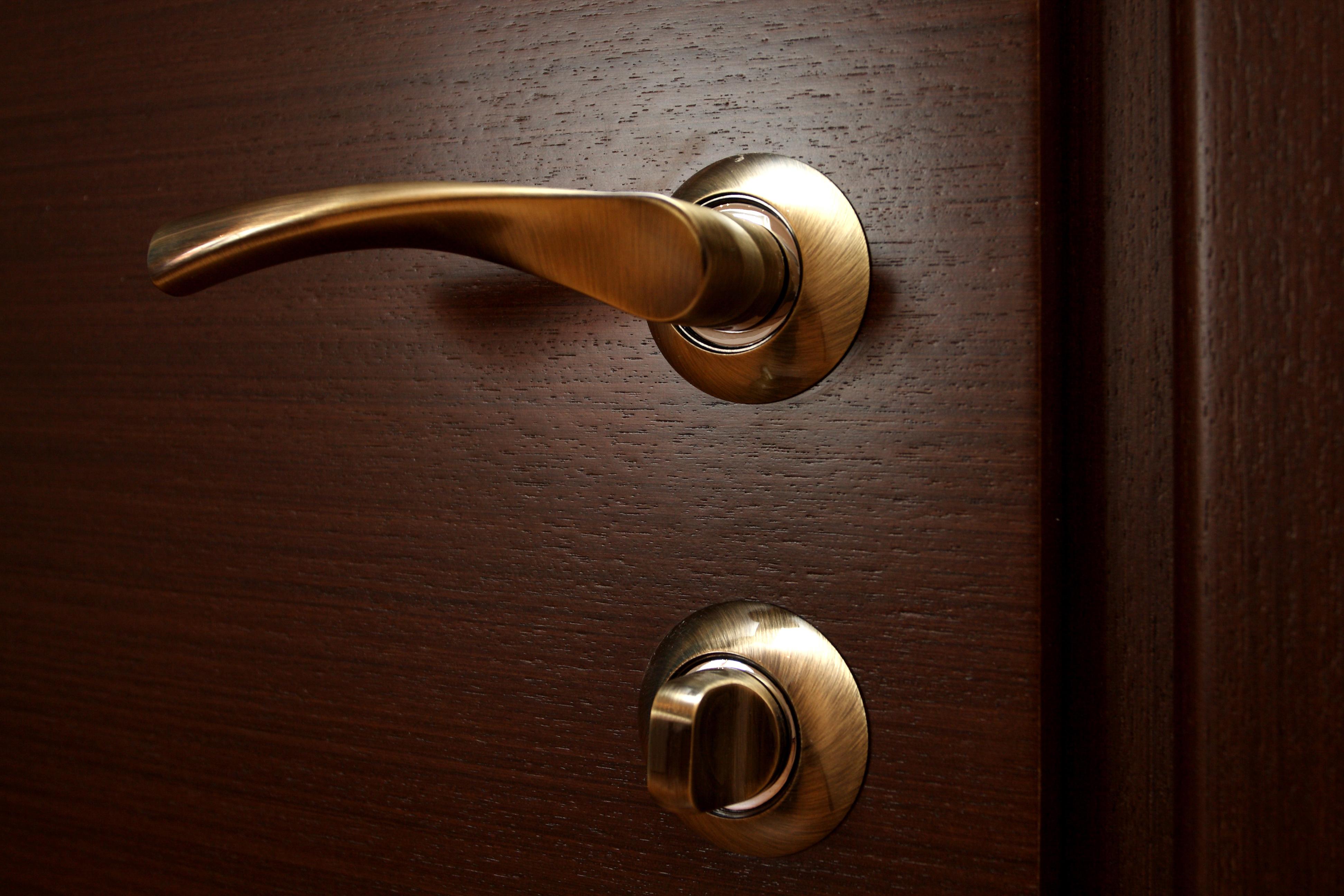 Металлическая ручка для межкомнатной двери
