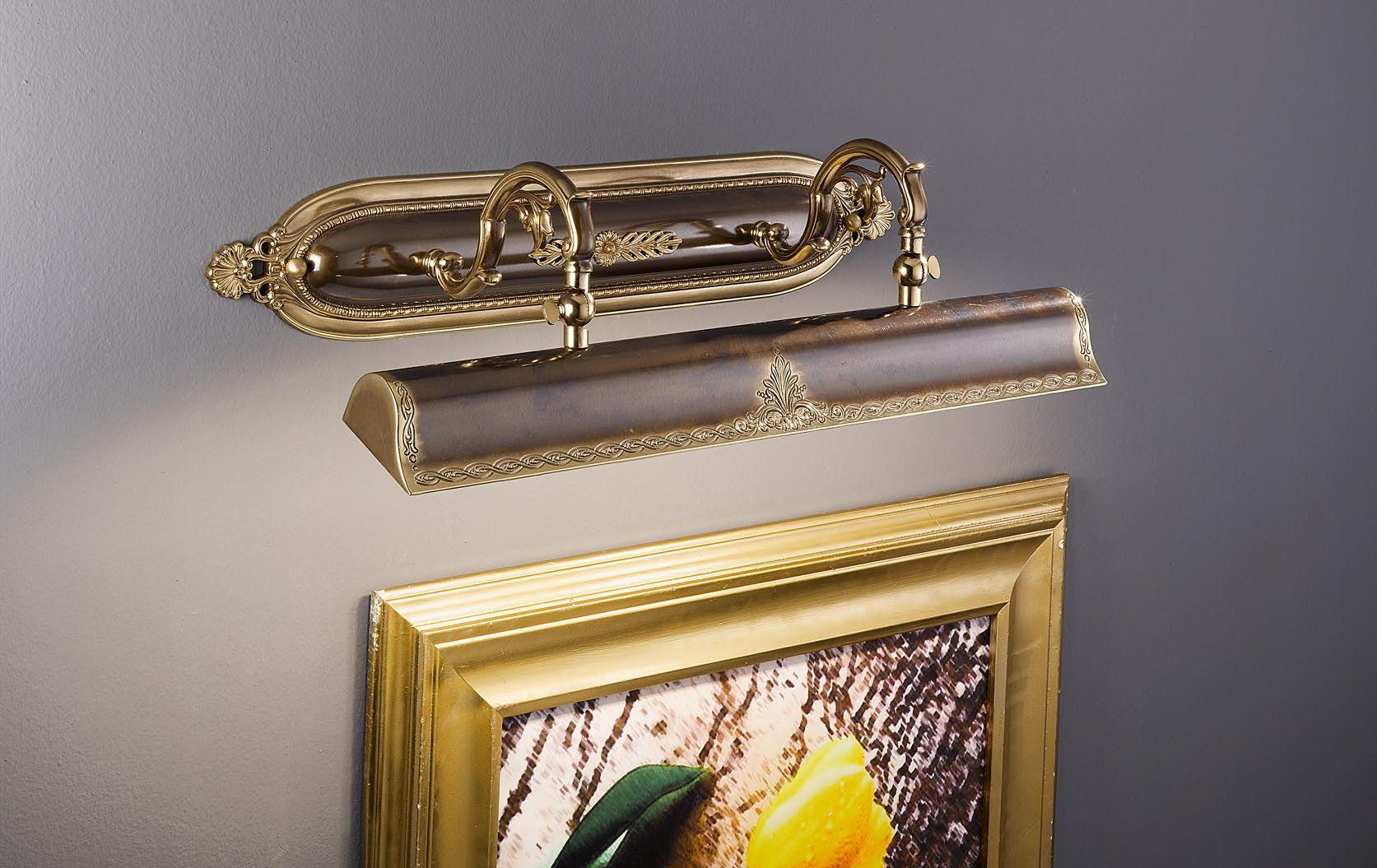 Металлический светильник для картин