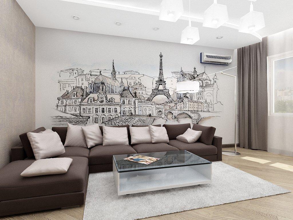 Минималистичный дизайн двухкомнатной квартиры