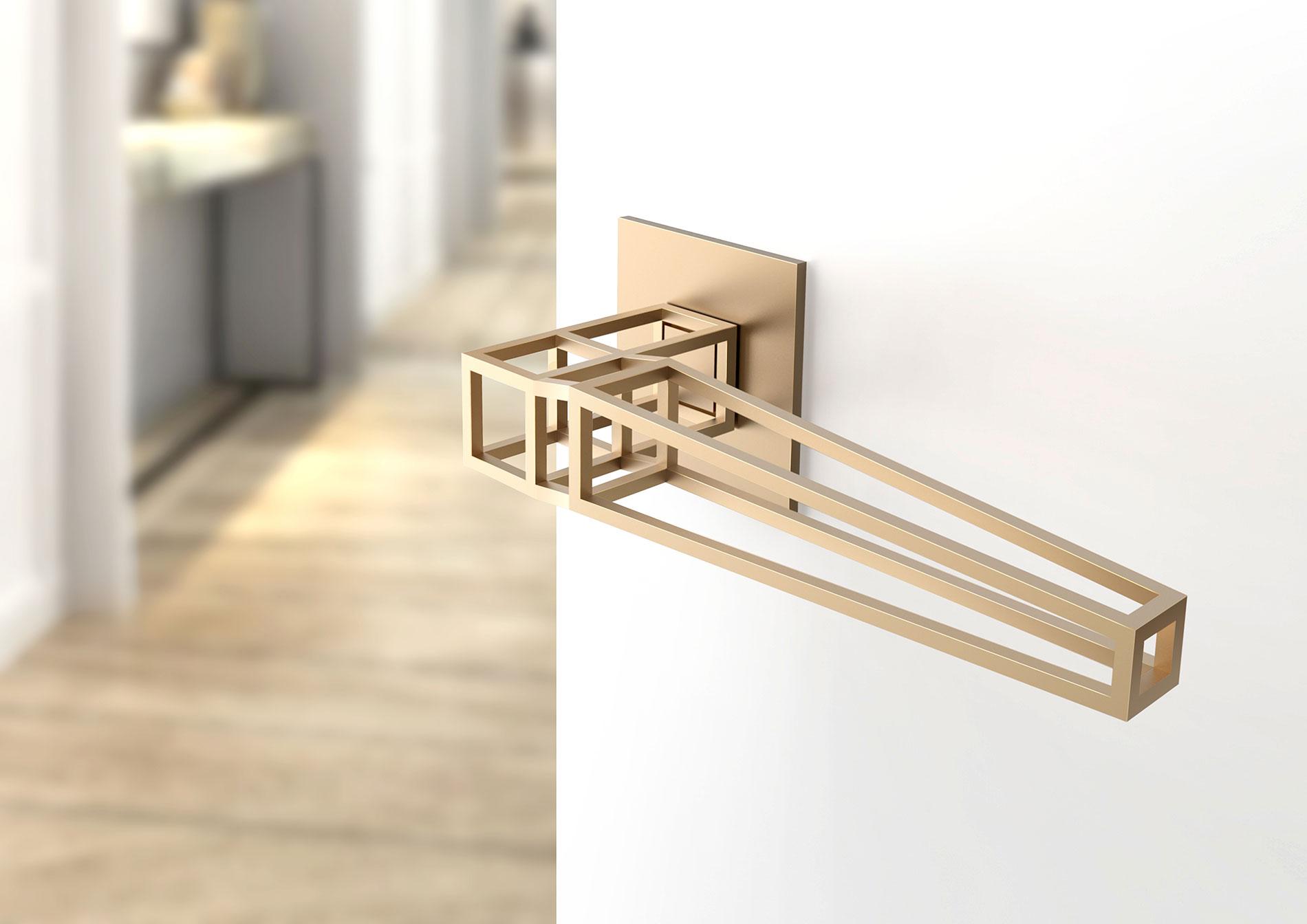 Дверная ручка в минималистичном дизайне