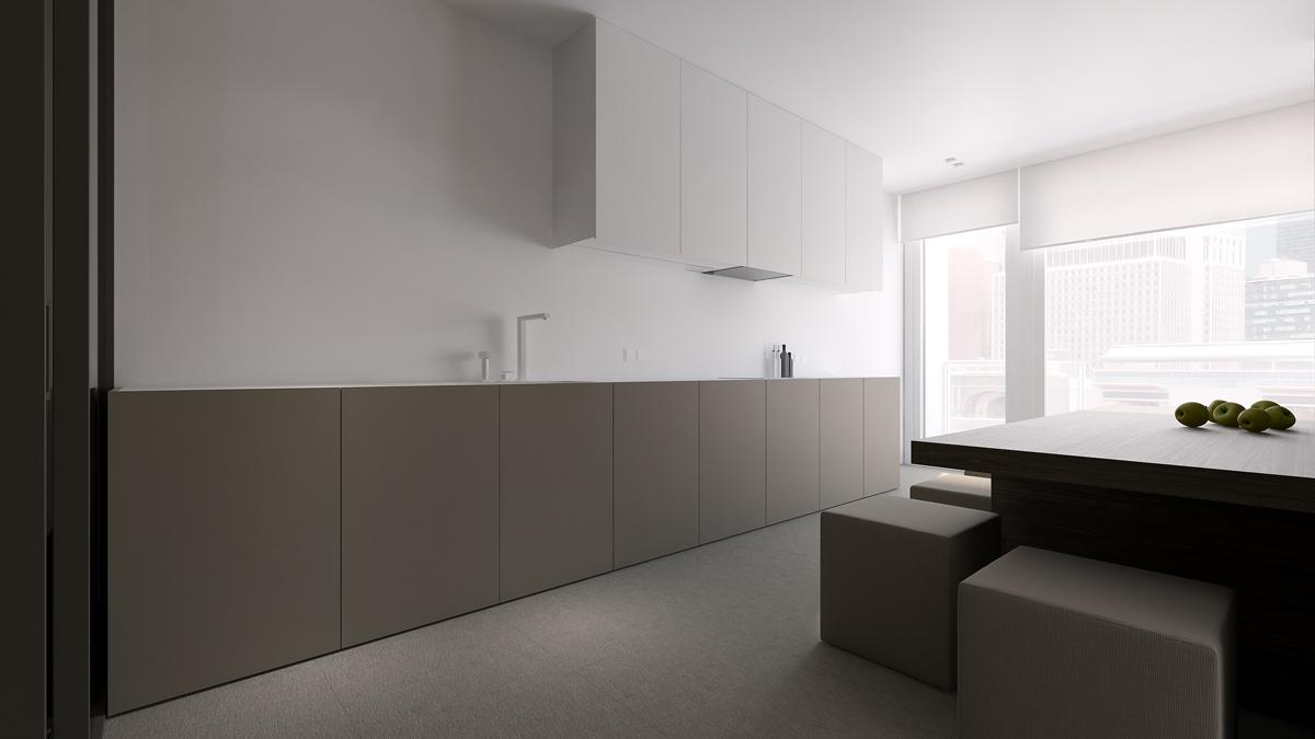 Кухонный гарнитур в минималистском стиле