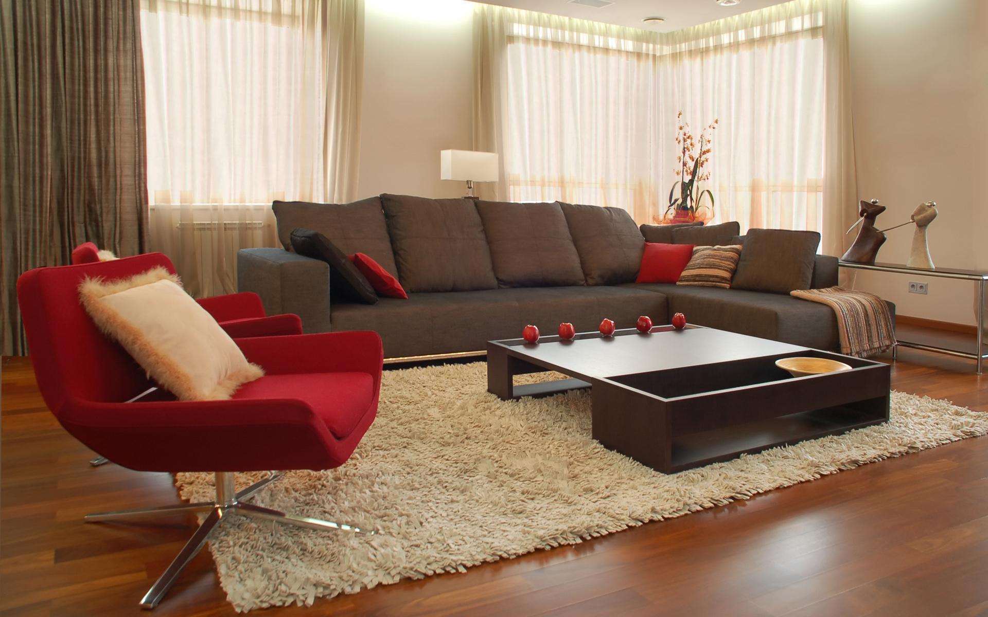Тканевый диван в стиле модерн
