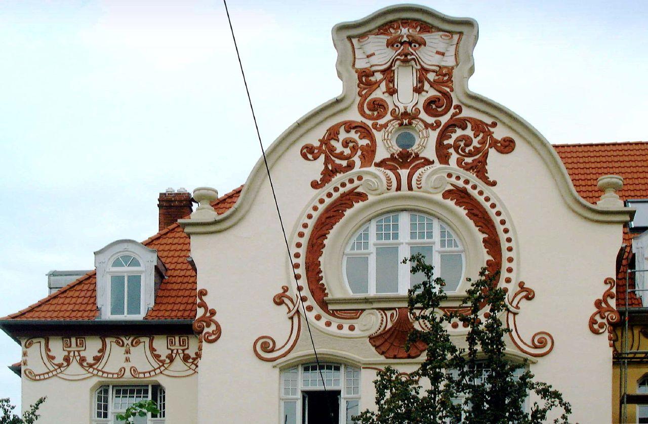 Фасадный декор в стиле модерн