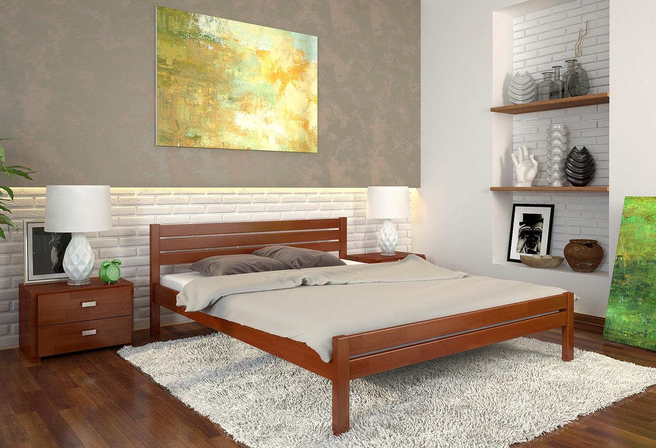 Кровать из массива в стиле модерн