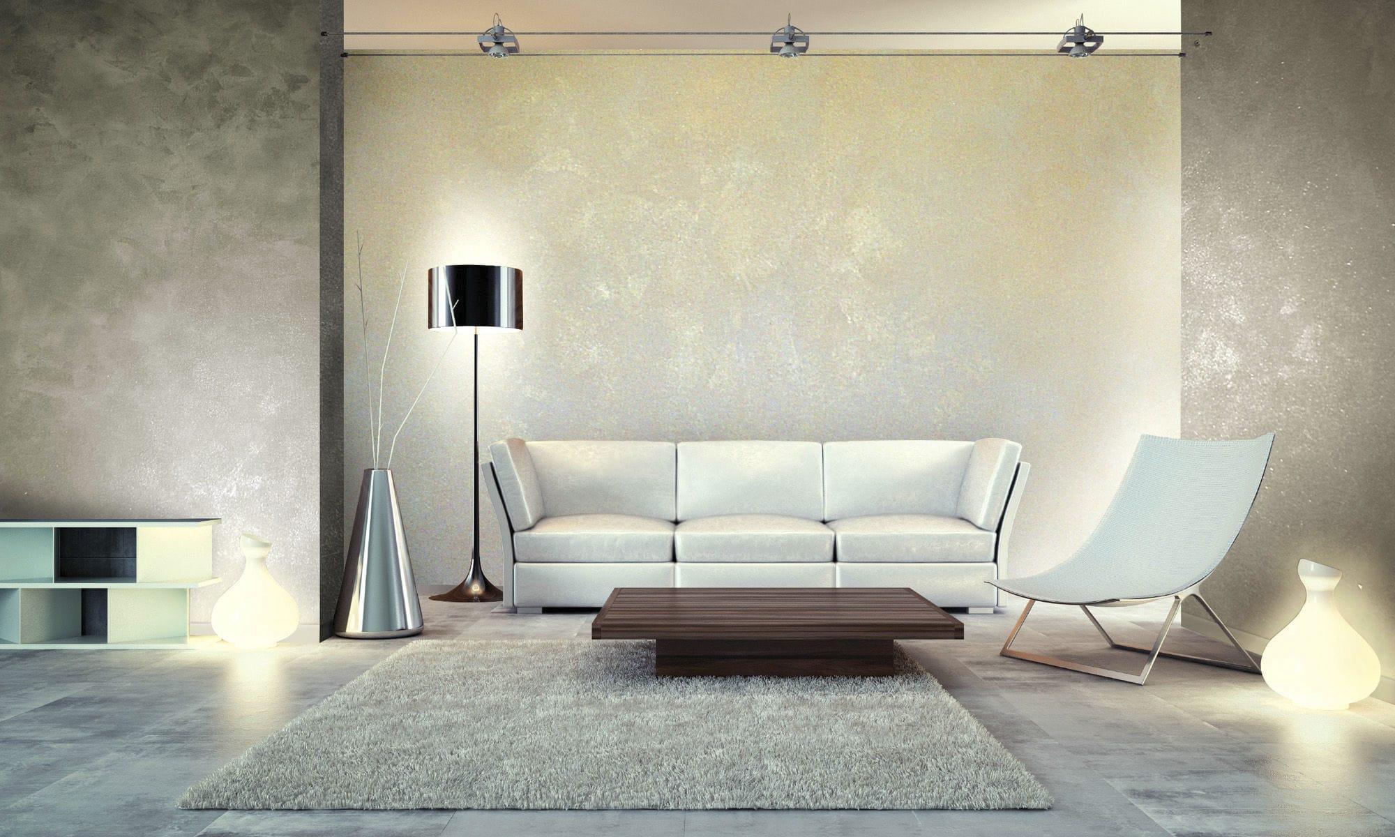 Перламутровая краска в интерьере модерн