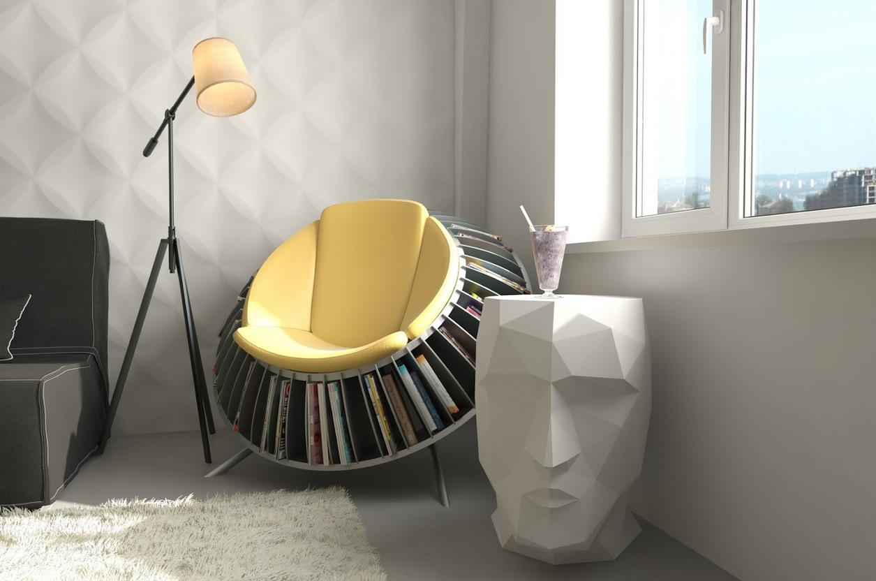 Место для чтения в интерьере модерн