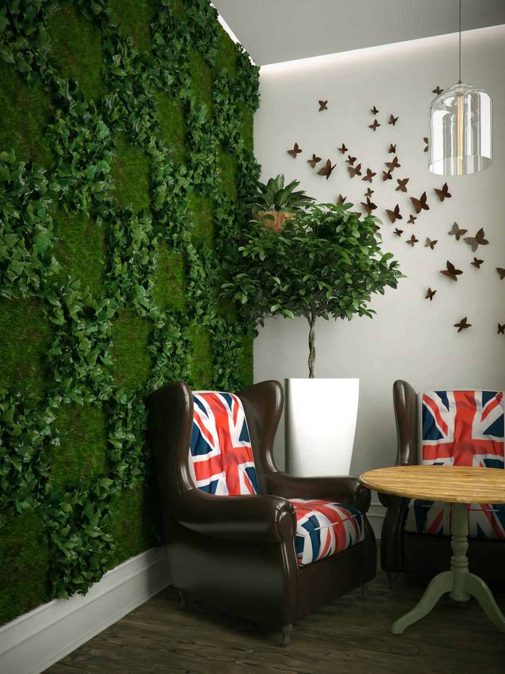 Вертикальное озеленение в интерьере модерн