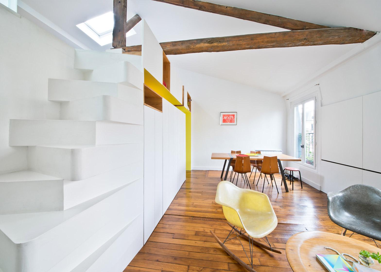 """Лестница """"гусиный шаг"""" в стиле модерн"""