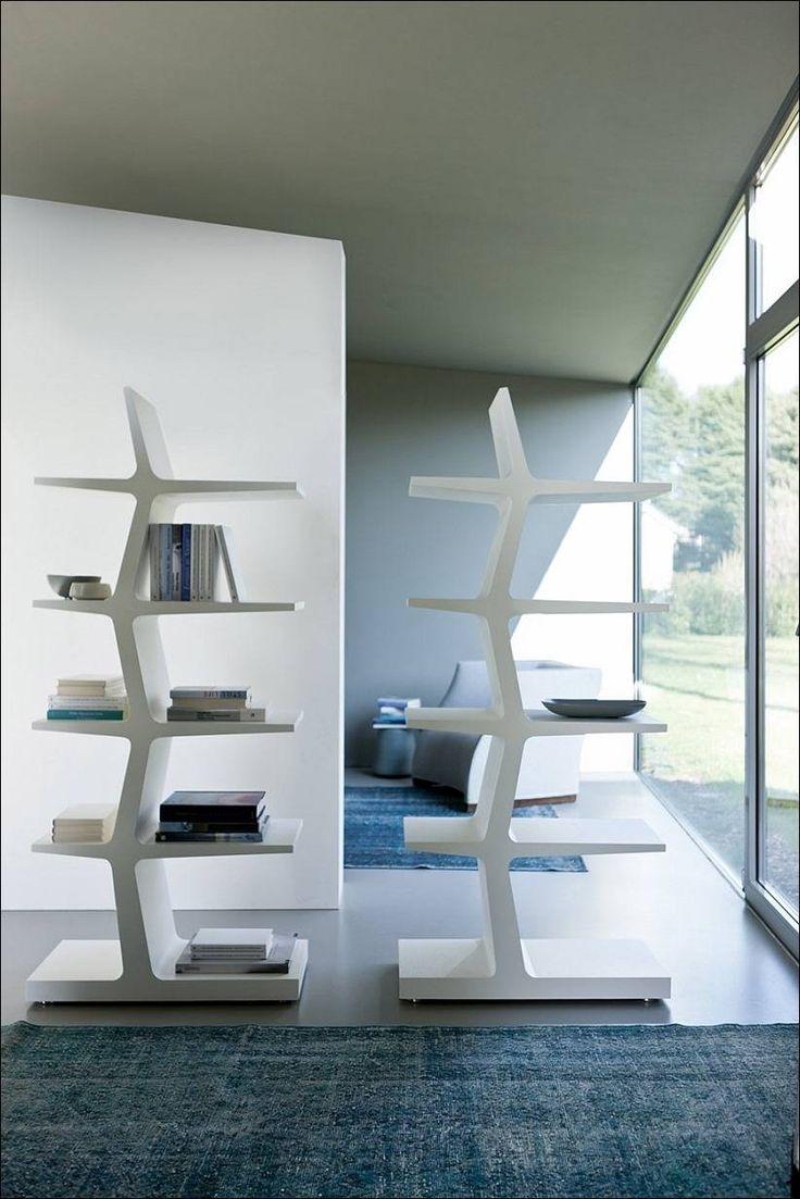 Книжные полки в стиле модерн