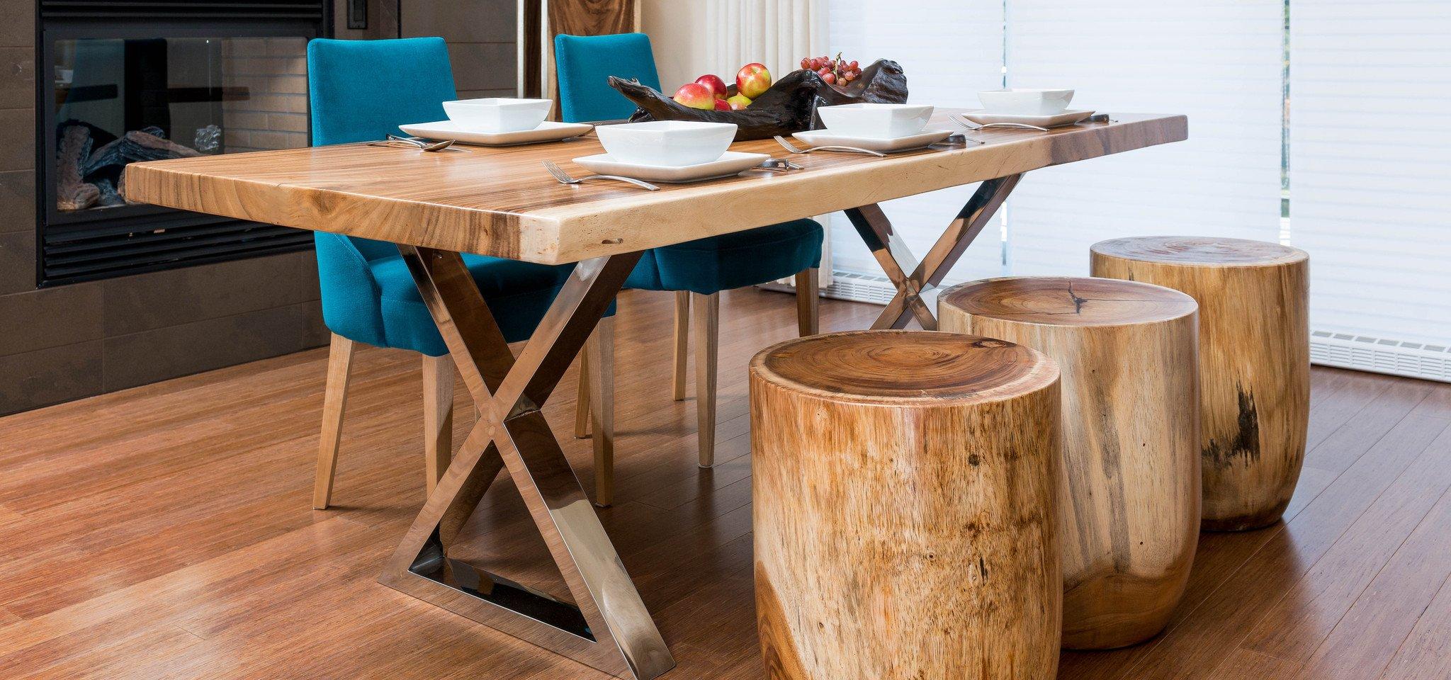 Стол из массива в стиле модерн