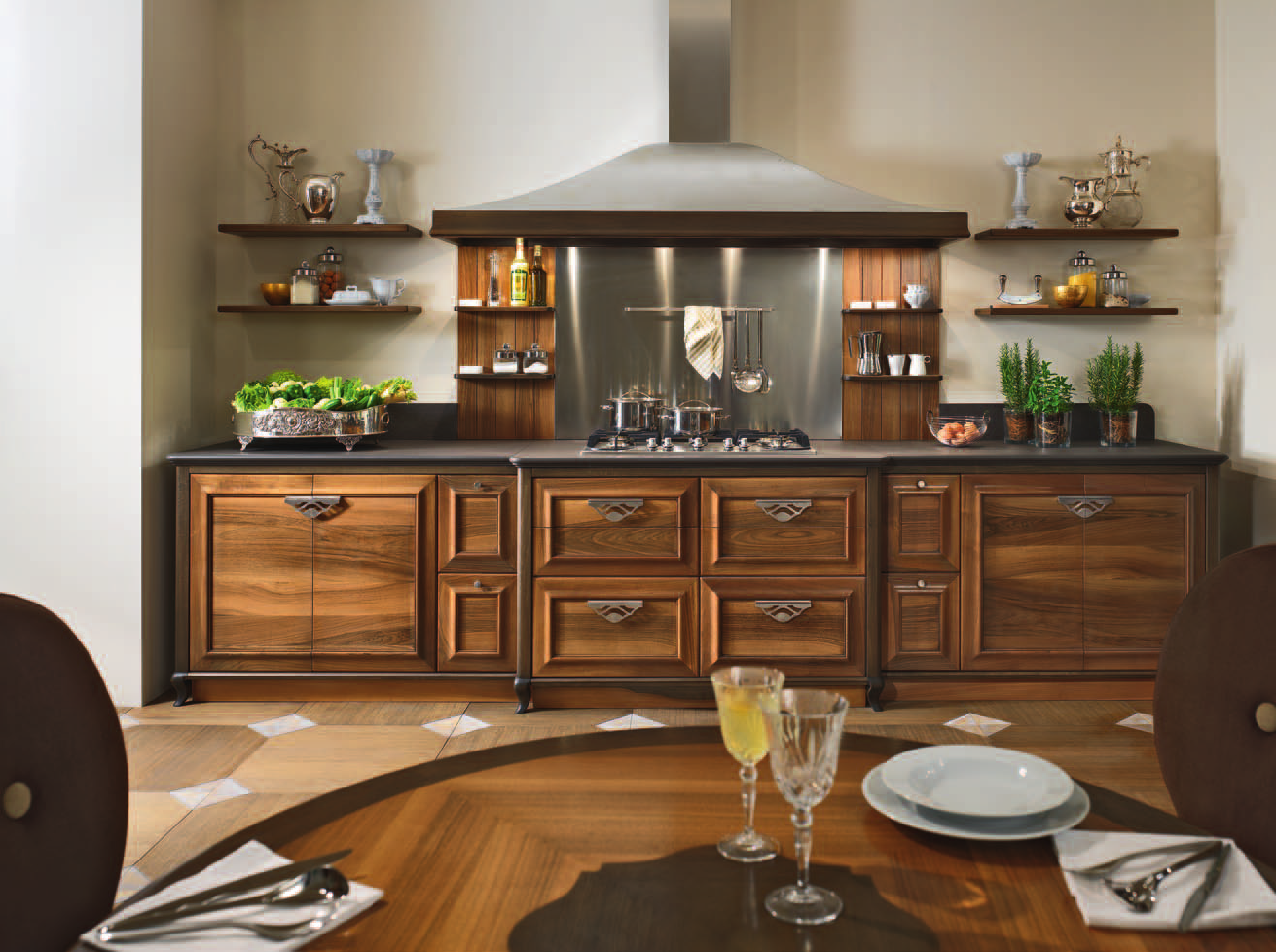Полки для посуды в стиле модерн