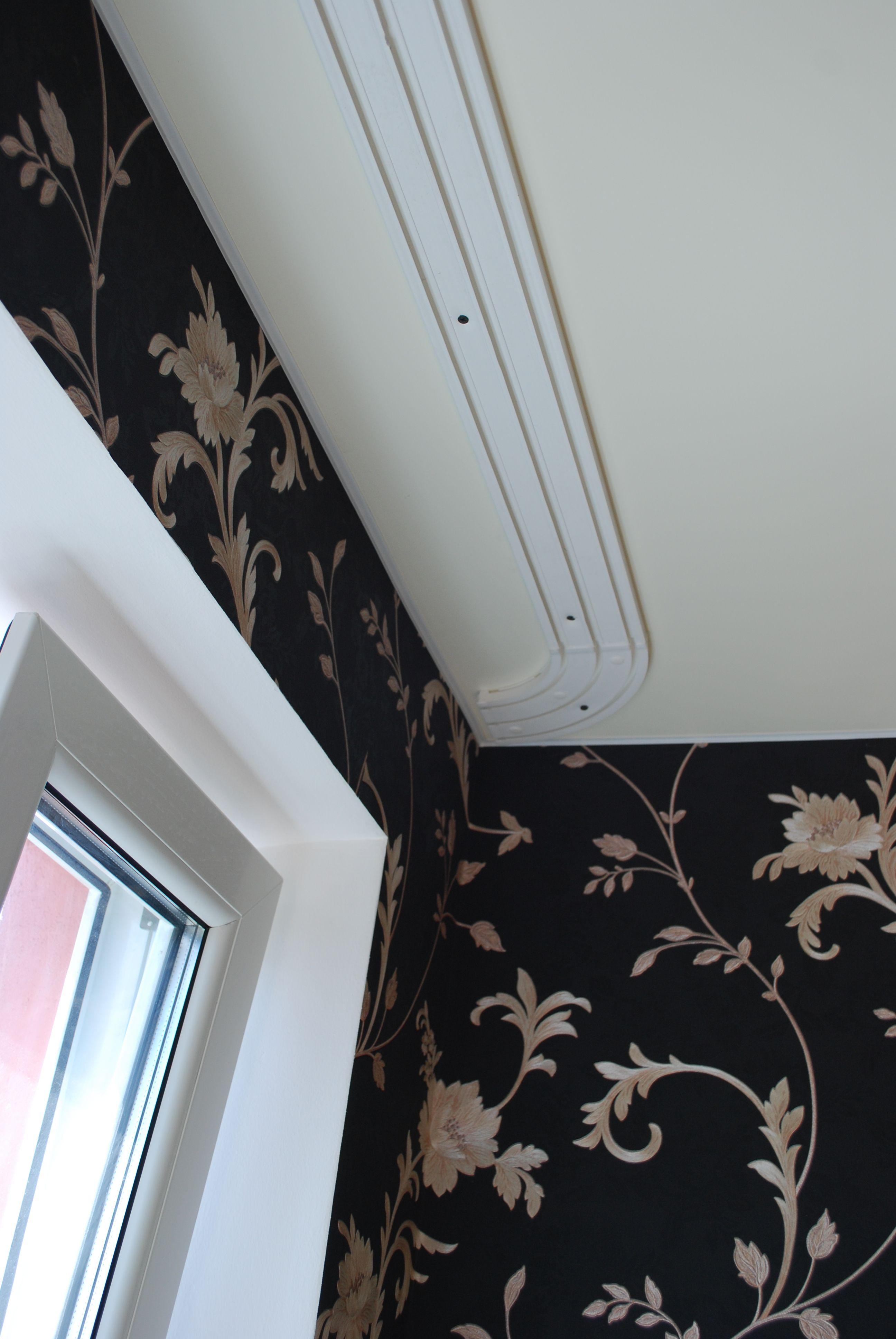 Монтаж потолочной шины для штор