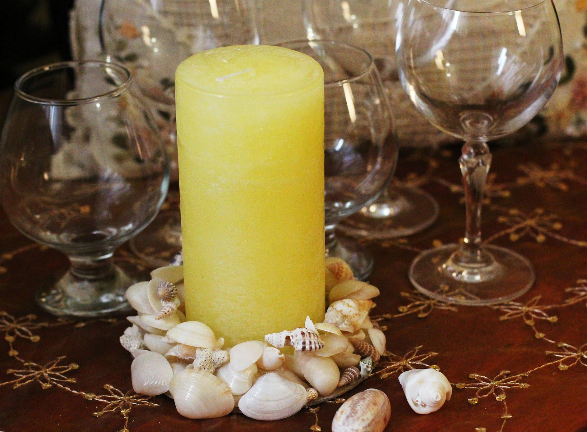 Морской декор свечи