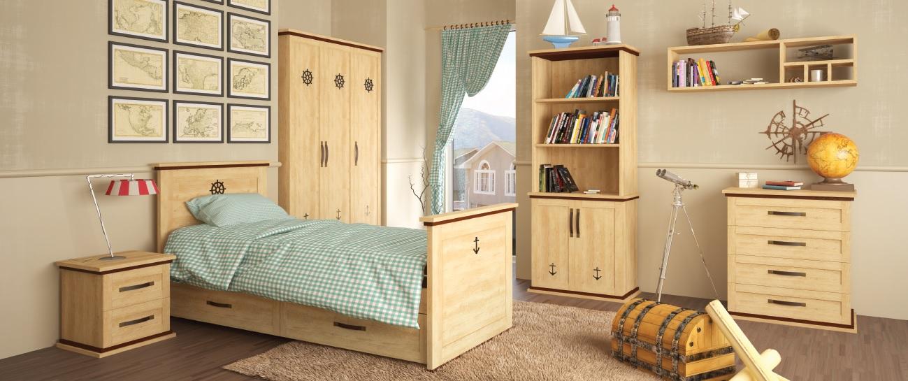 Детская мебель из дерева в морском стиле