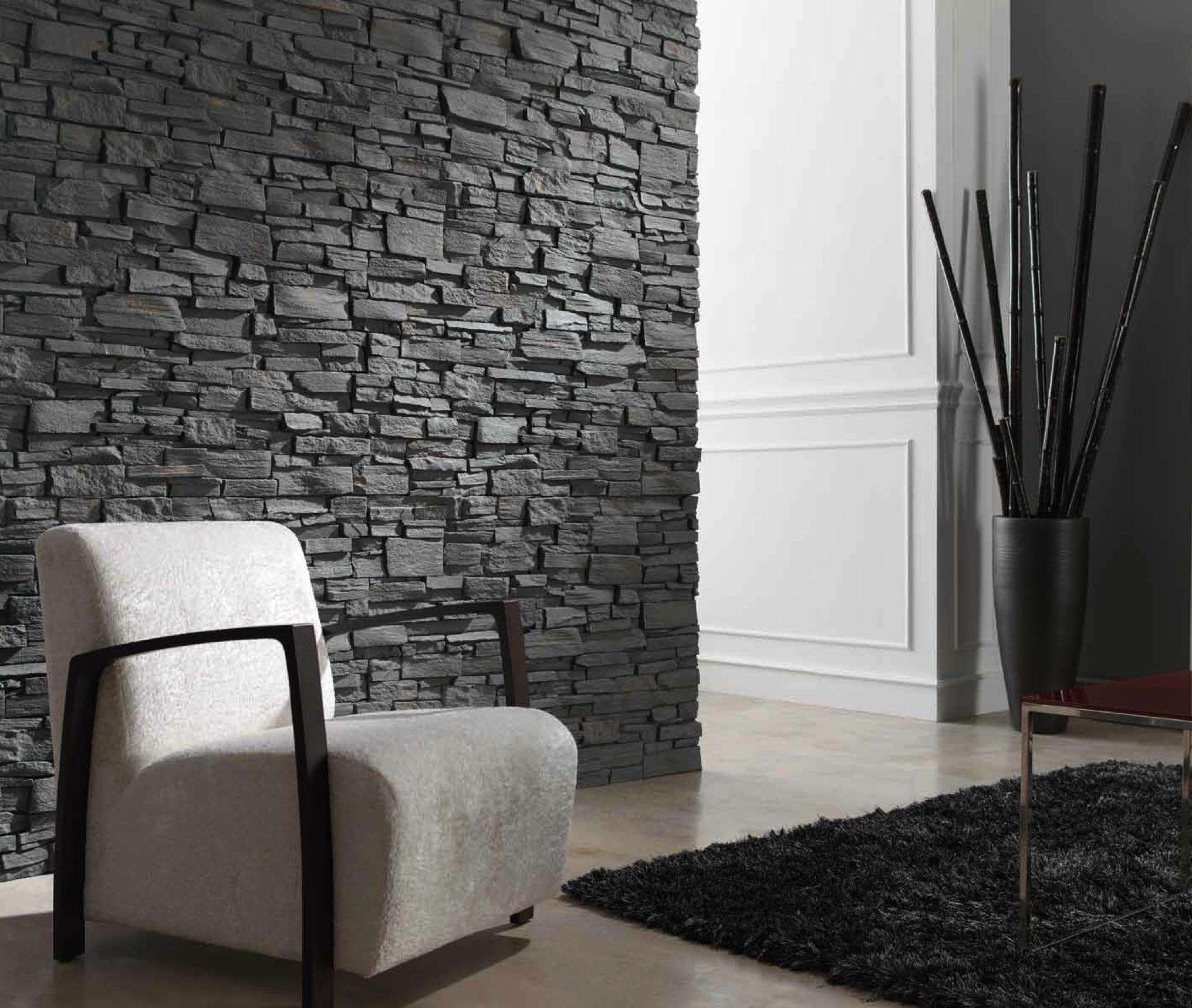 Гипсовый декоративный камень с необработанными краями