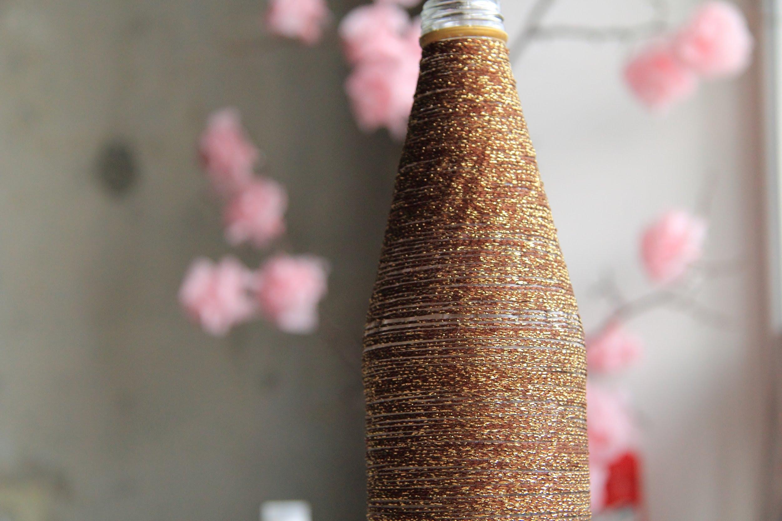 Декор вазы нитками