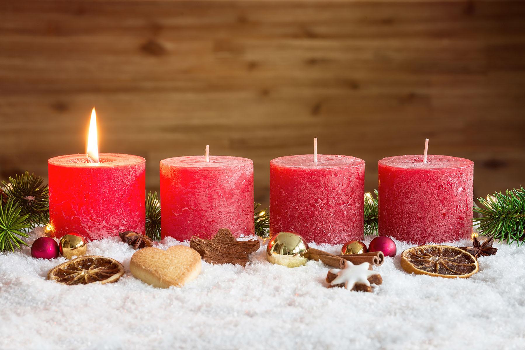 Декор свечи новогодний