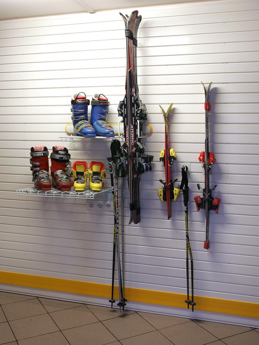 Хранение лыж и обуви