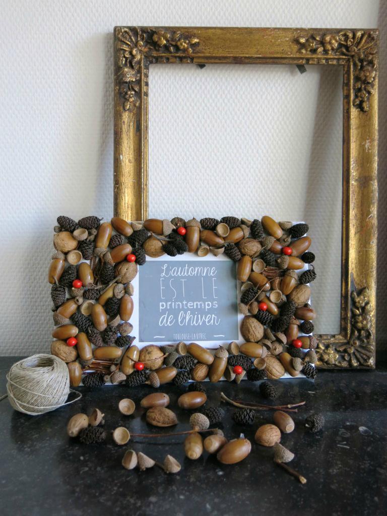 Декор рамки для фото орехами