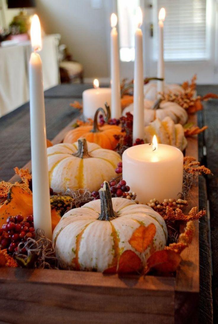 Декор свечи осенний