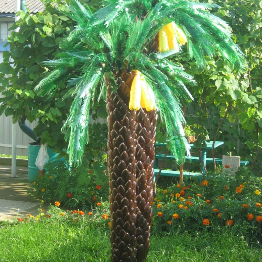 Пальмы для сада из пластиковых бутылок