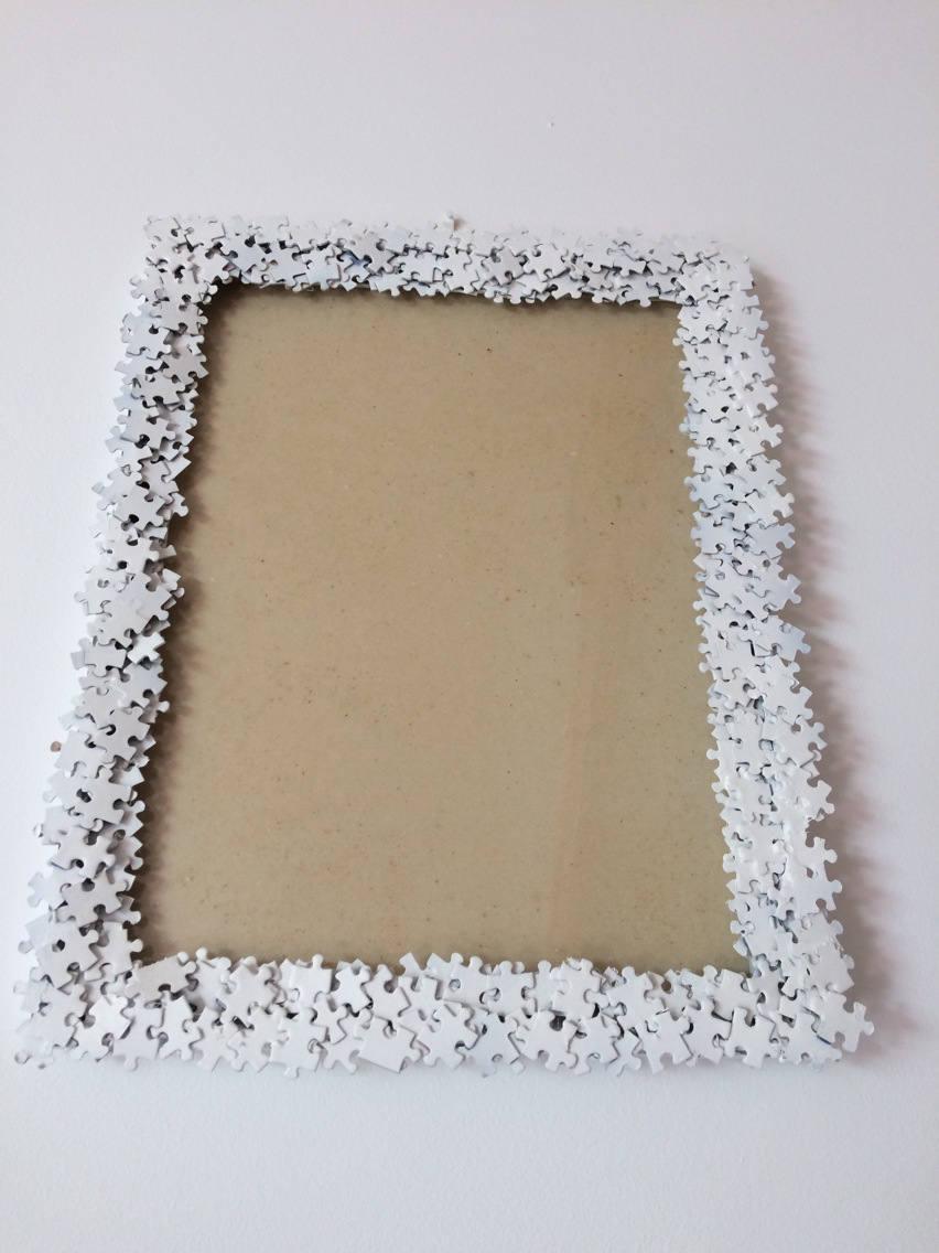 Декор рамки для фото пазлами