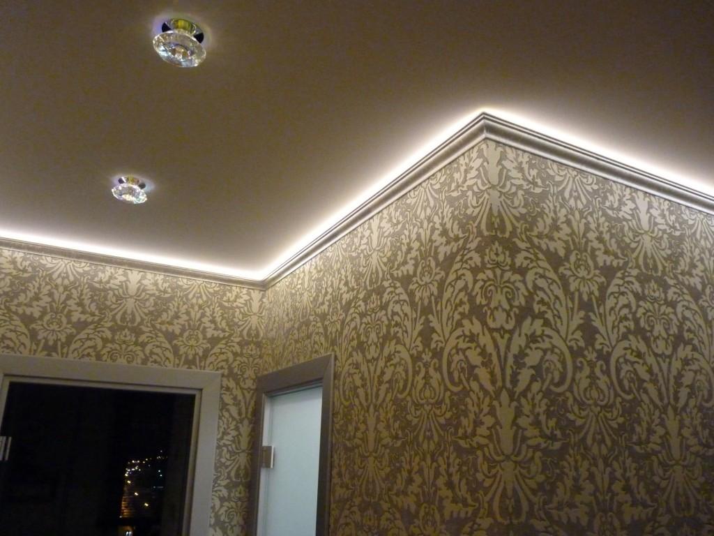 Светодиодная подсветка потолка по периметру