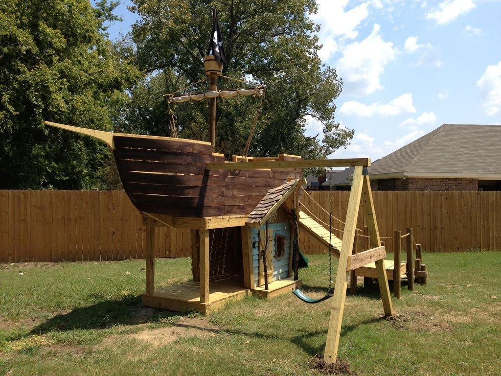 Детская игровая площадка в пиратской тематике