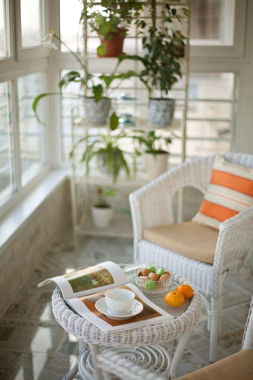 Плетеная мебель для балкона