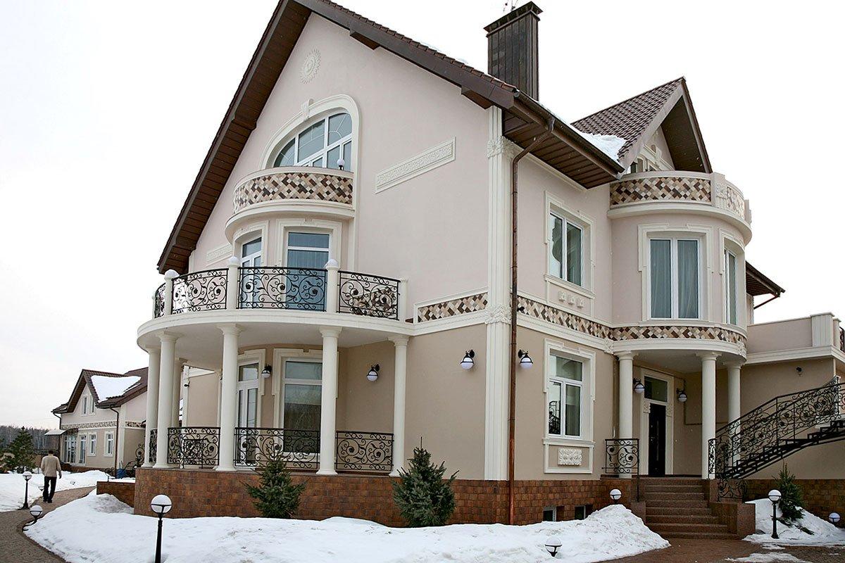 Плитка в декоре фасада дома