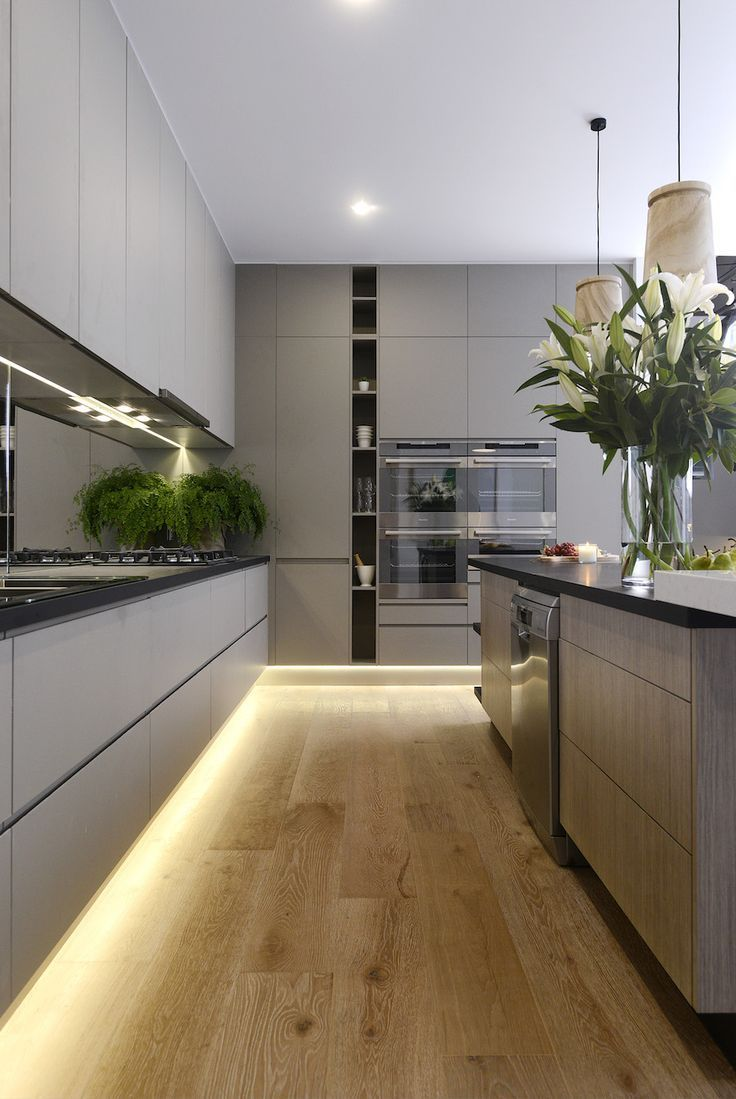 Дизайн кухни с подсветкой 2019